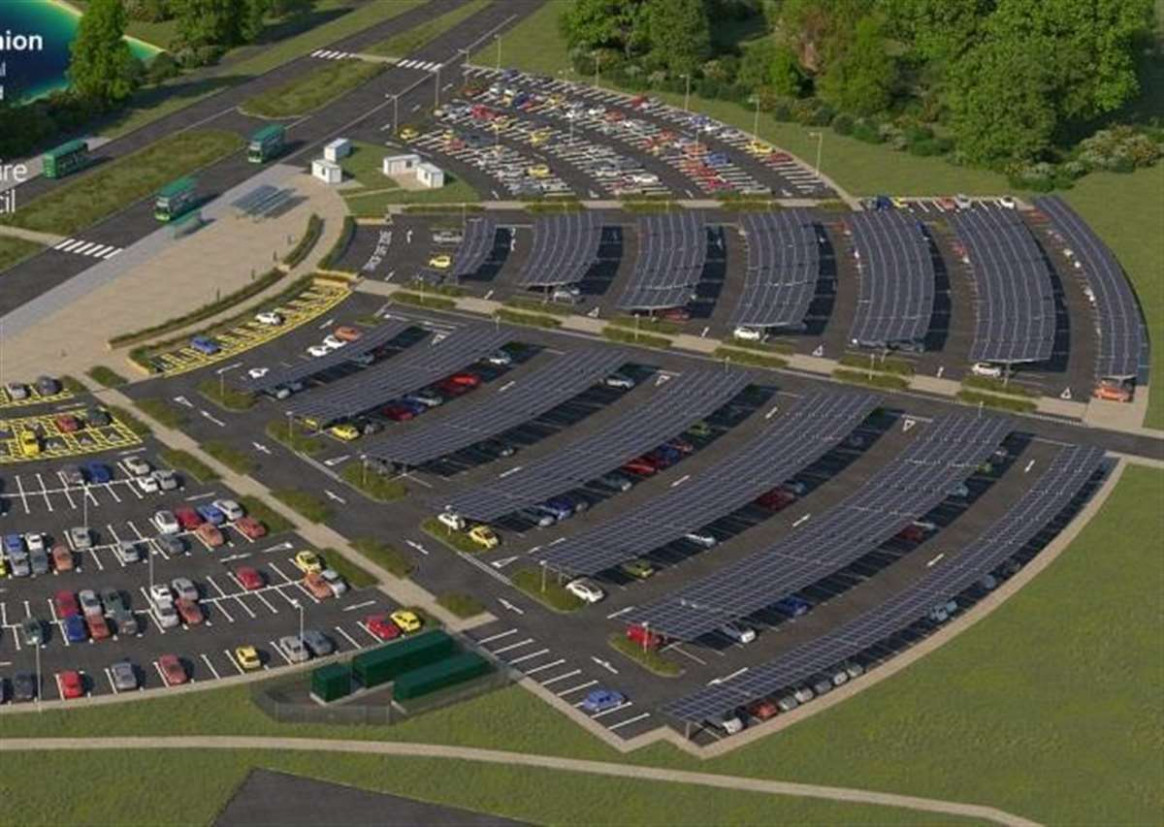 Solar Park And Ride 'carport' Planned For St Ives Would Be ..