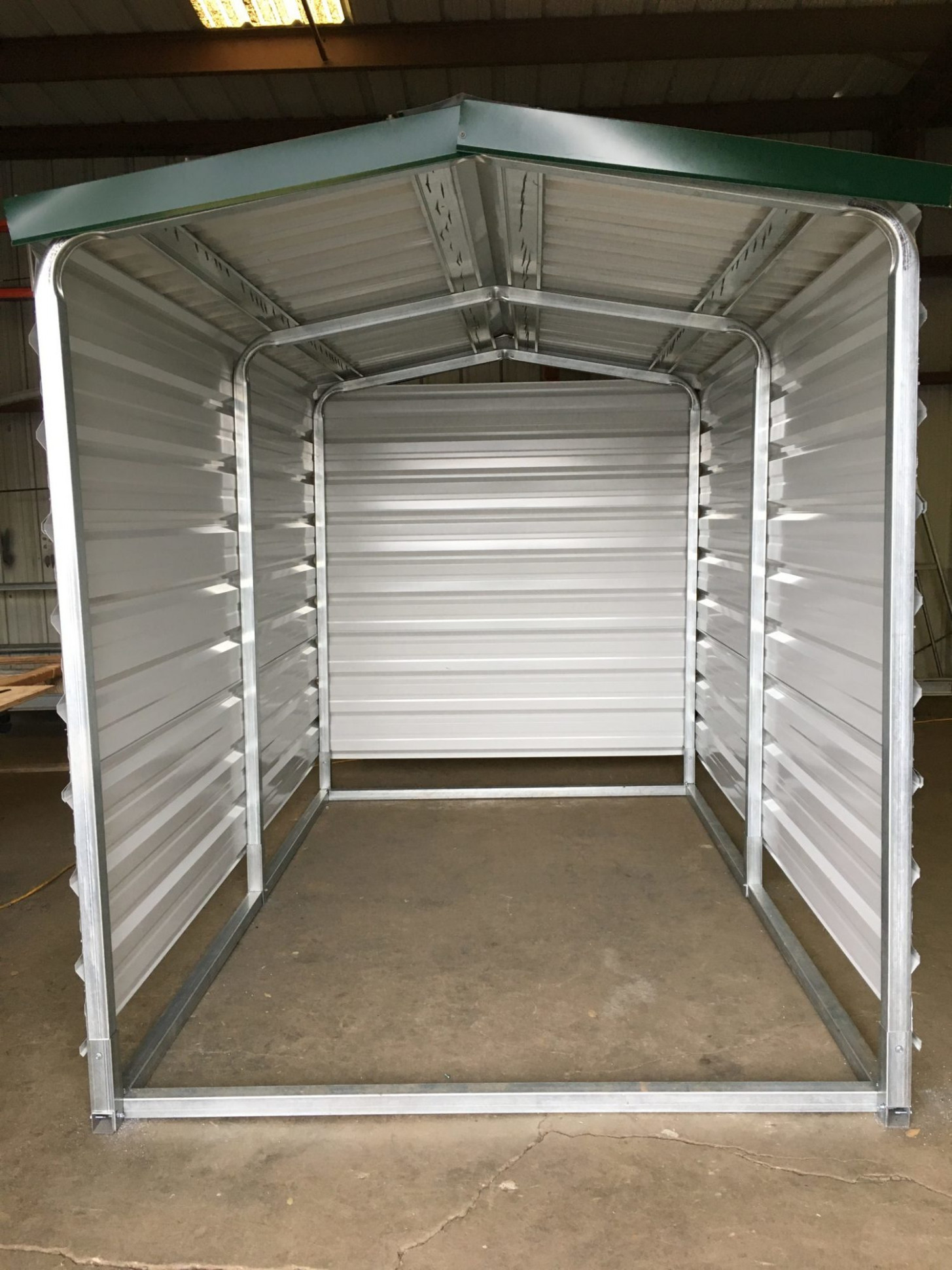 Solar Well Shelter Structure, 10'x10′, 10′ Height Carport Roof Height