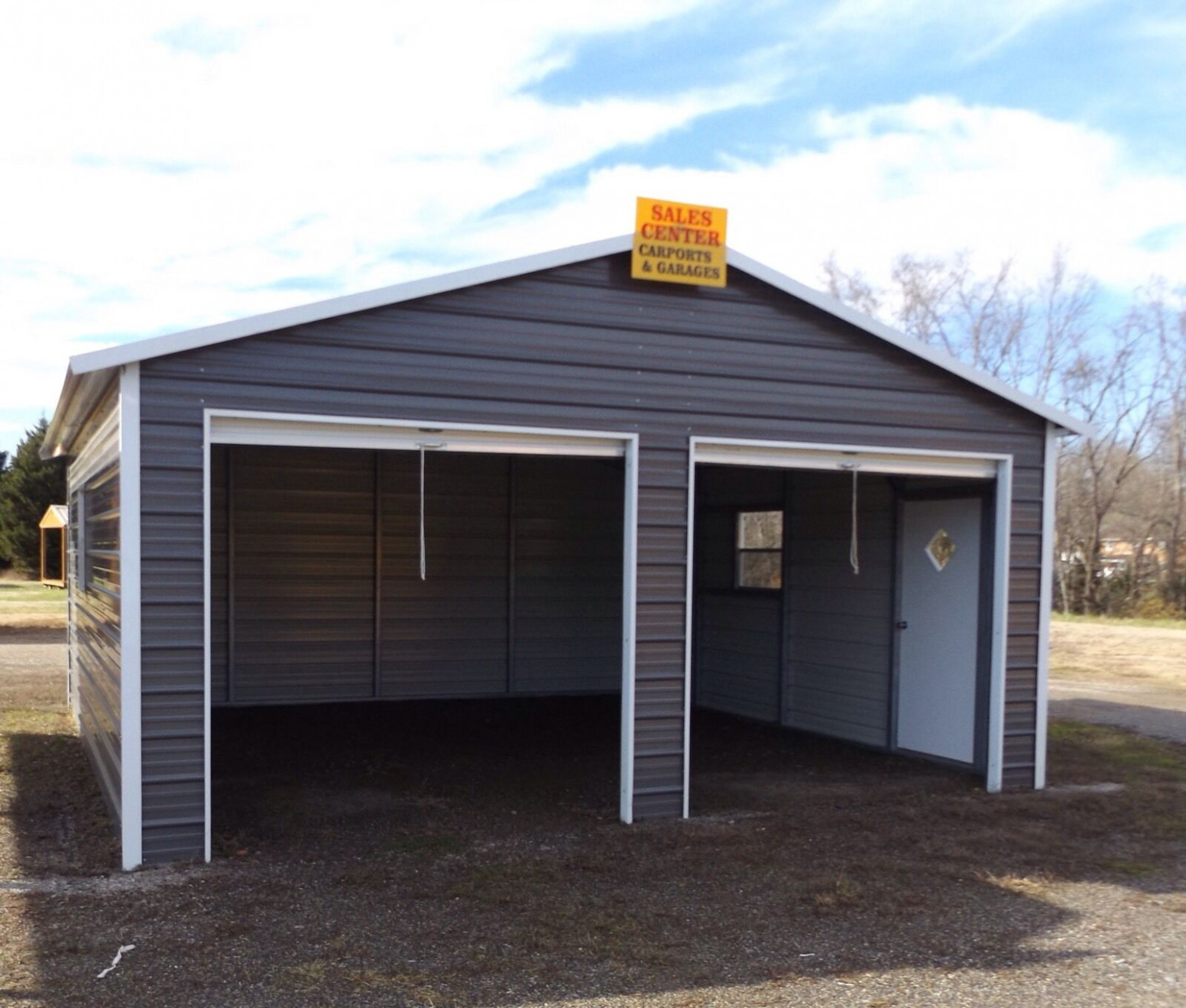 Steel 2 Car Garage Carport Workshop 24x31x9 Metal Building ..