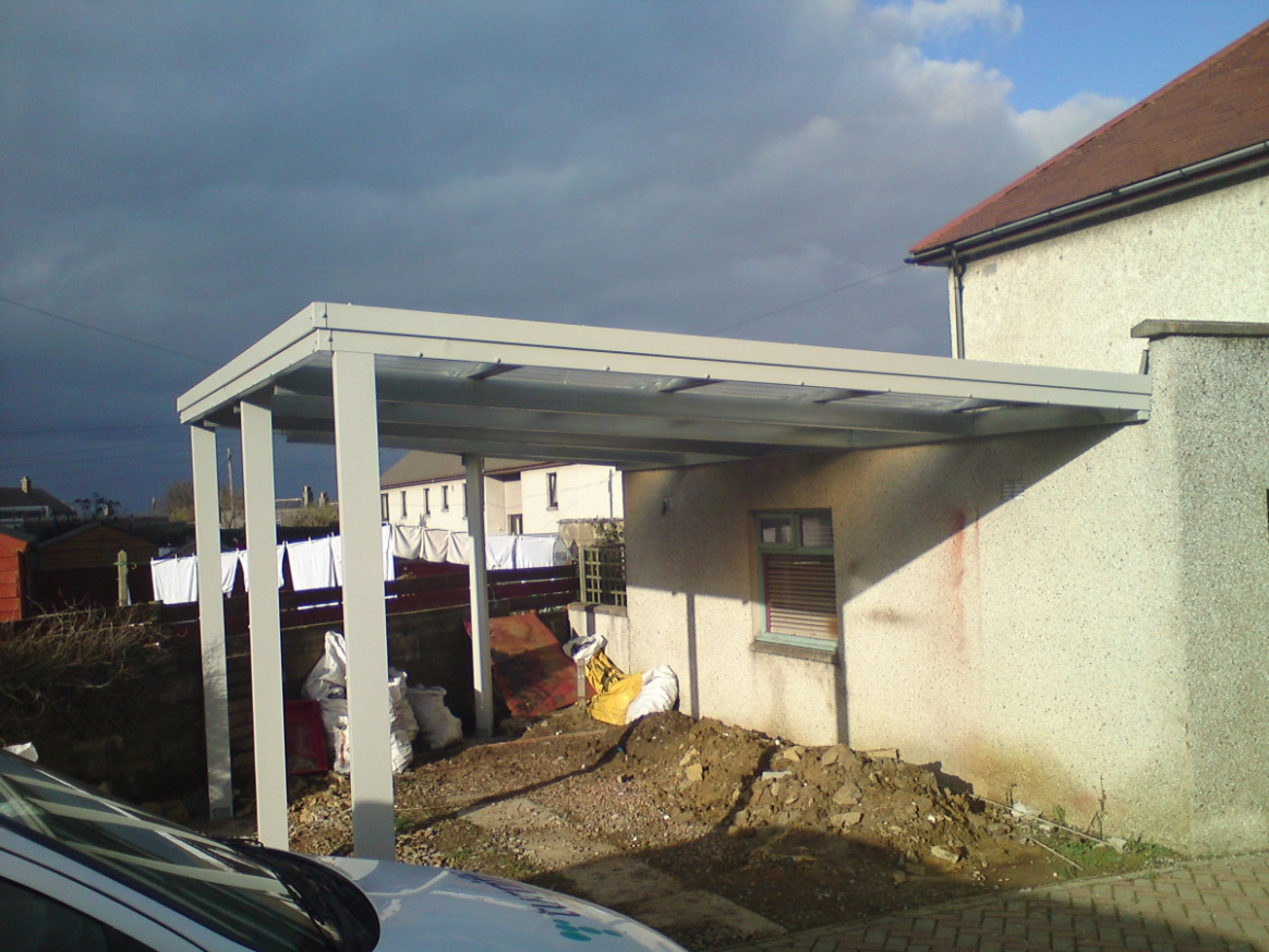 Steel Carports In Scotland, UK Carport Roof Design Uk