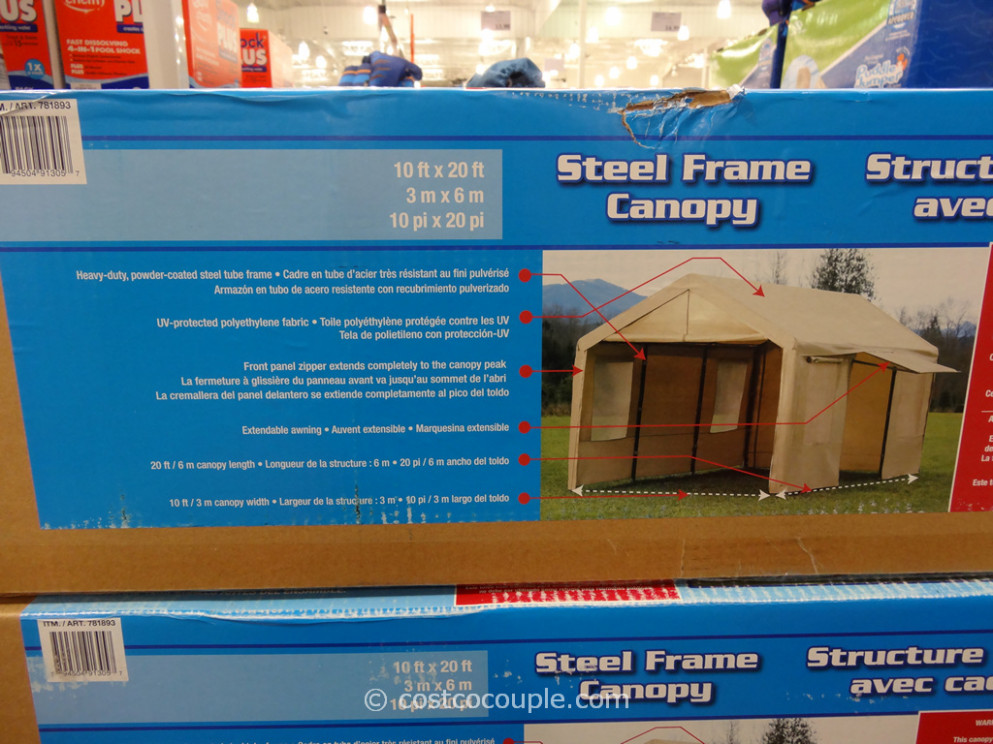 Steel Frame Canopy With Side Walls Costco Carport Canopy Replacement Parts
