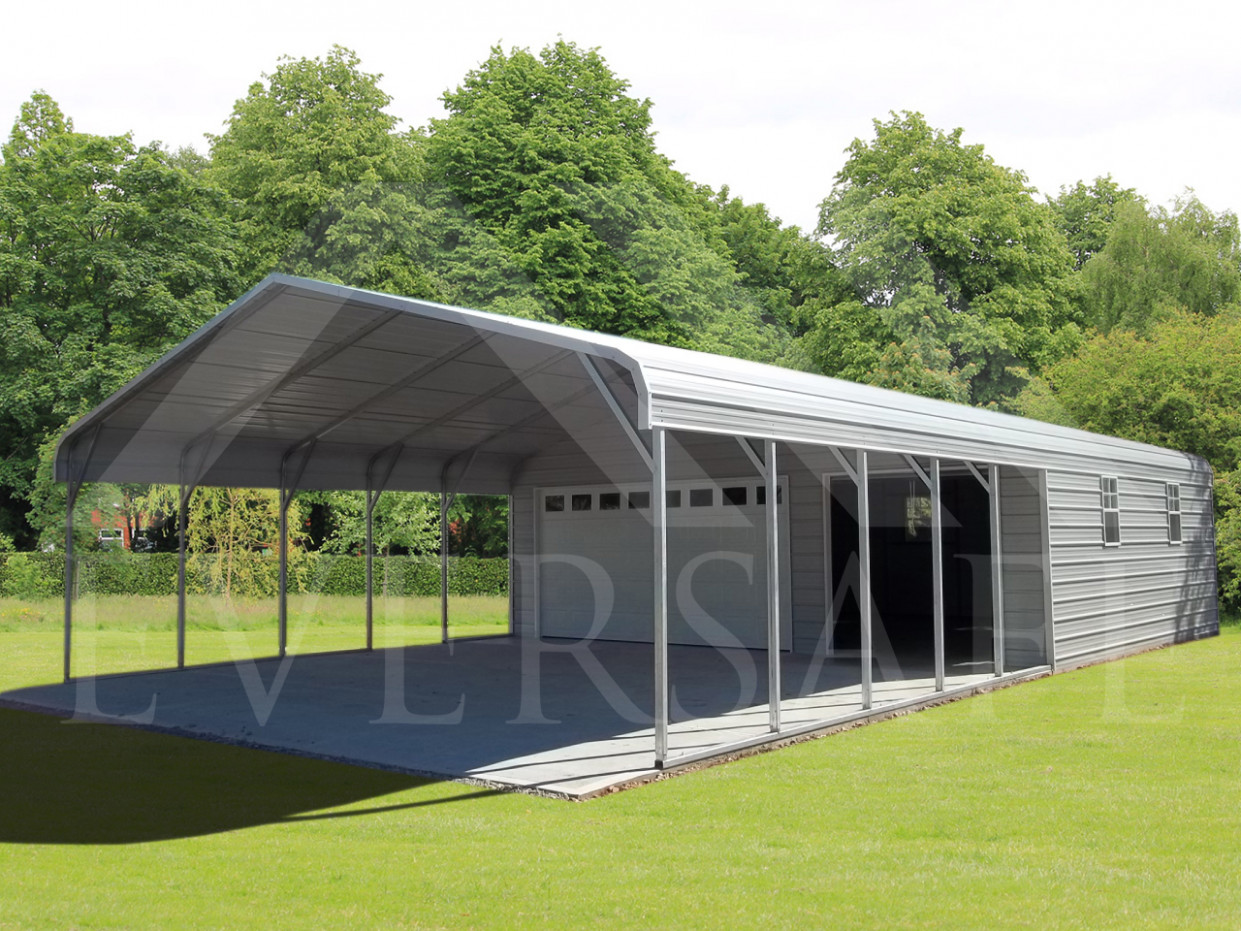 Steel Garage Carport Combo, One, Two Or Three Car Metal Garage Definition Carport Garage