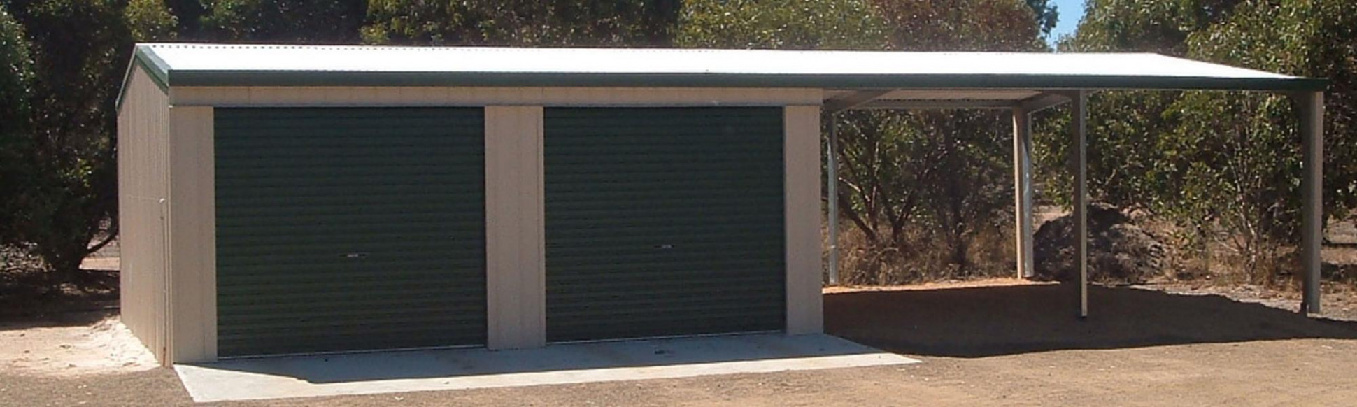 Steel Garaports Custom Designed | Wide Span Sheds Garage Doors On Carports