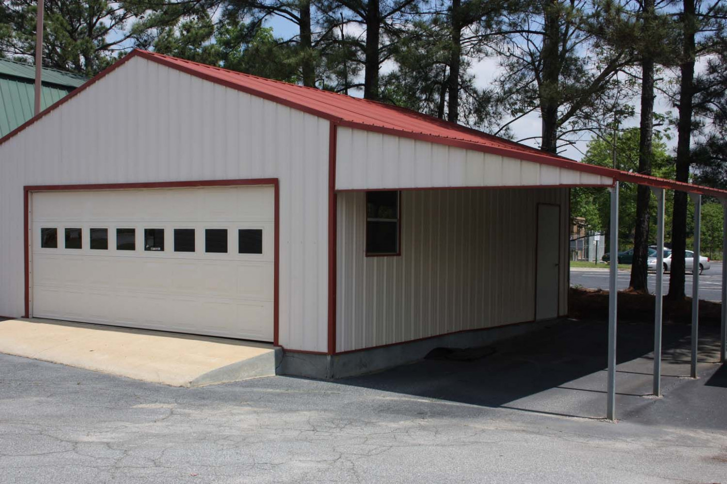 STEEL STRUCTURE GARAGE WITH LEAN-TO CARPORT ATTACHMENT 9 ...