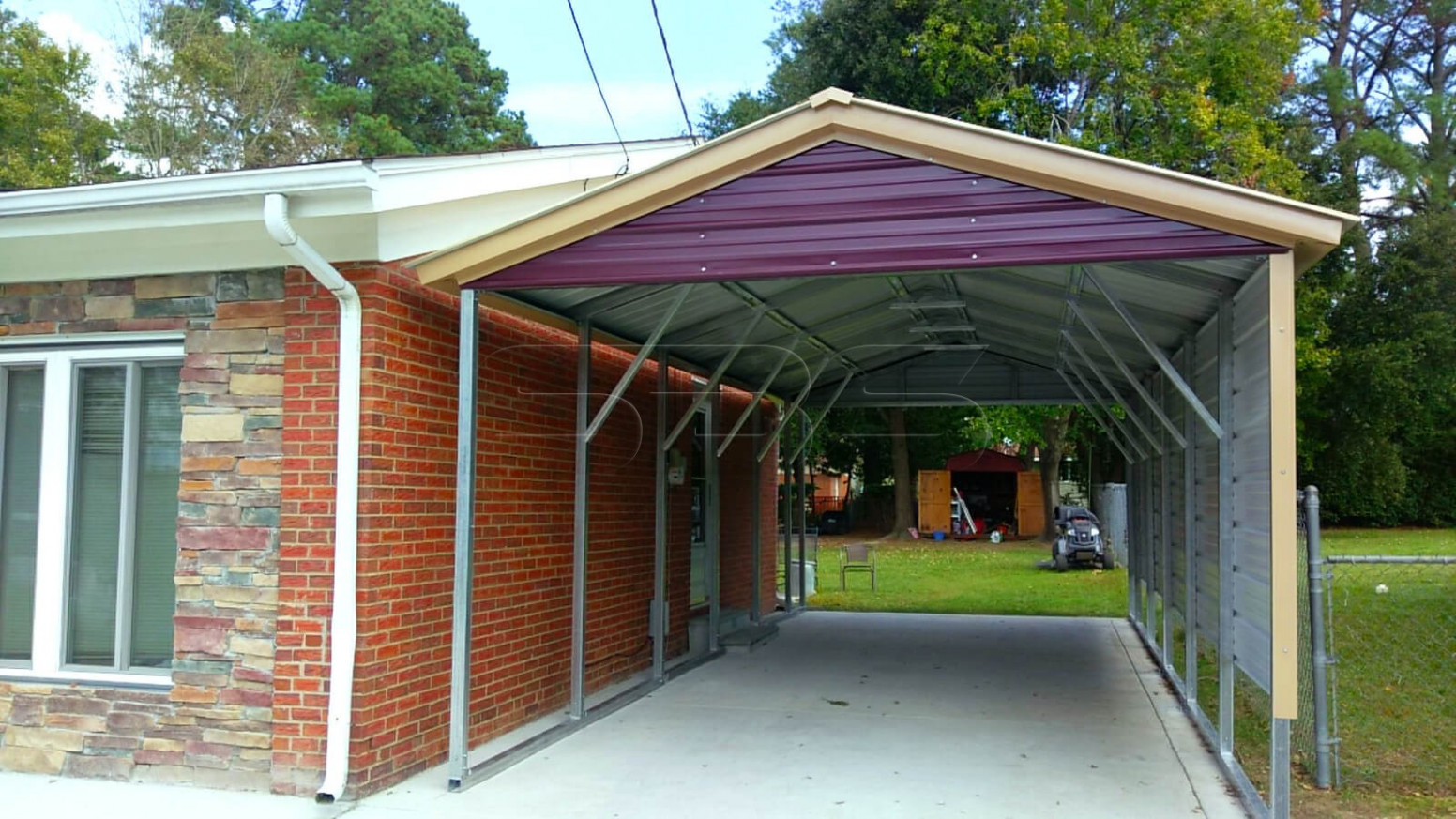 Steel Structures, Metal Carports, Clear Span, Garage And ..