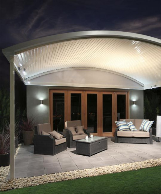 Stratco Outback Curved Roof Awnings, Carports, Pergolas ..