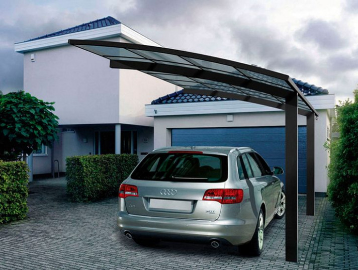 Strong And Durable Aluminum Car Parking Shade Metal Frame ..
