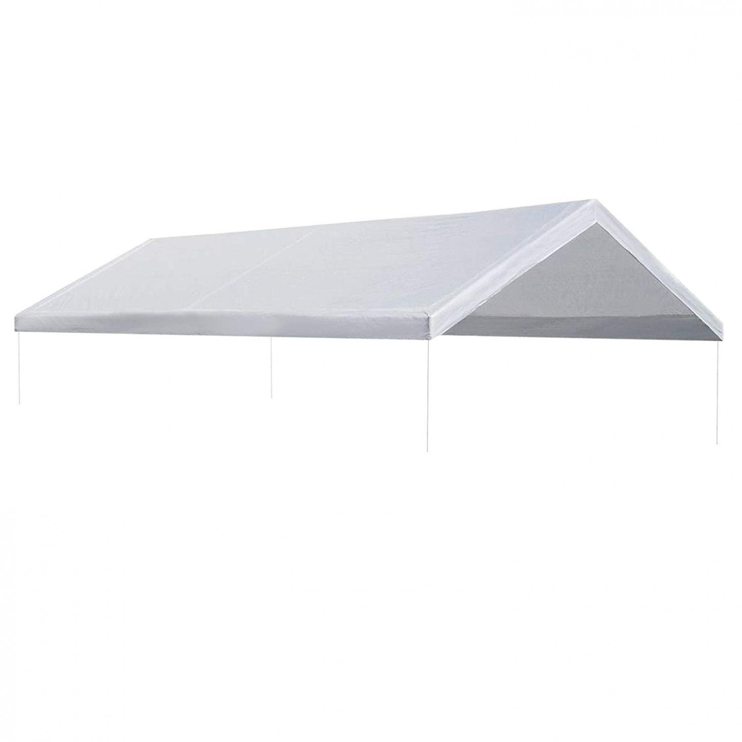 Strong Camel 10'x10' Carport Replacement Canopy Cover For Tent Top Garage Shelter Cover W Ball Bungees (Only Cover, Frame Is Not Included) Carport Replacement Canopy 10x20