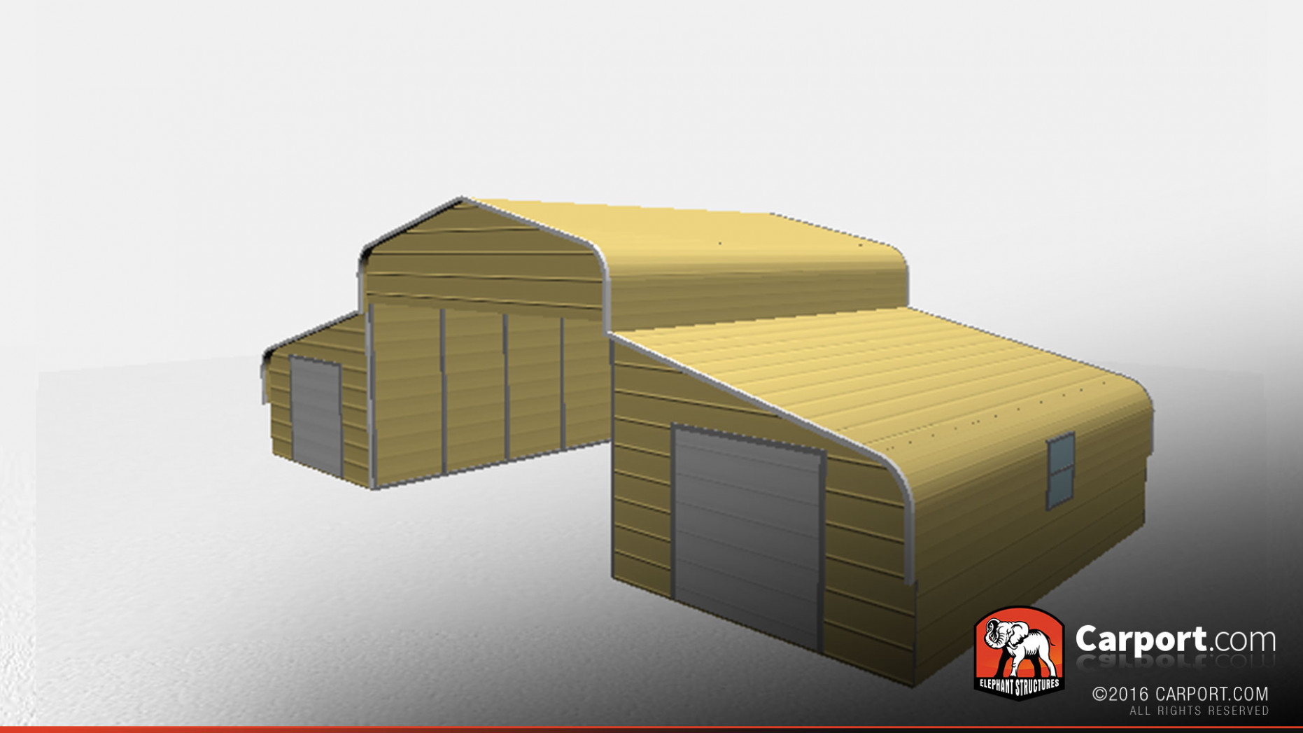 Strong Metal Barn With Curved Roof Style | Shop Metal ..