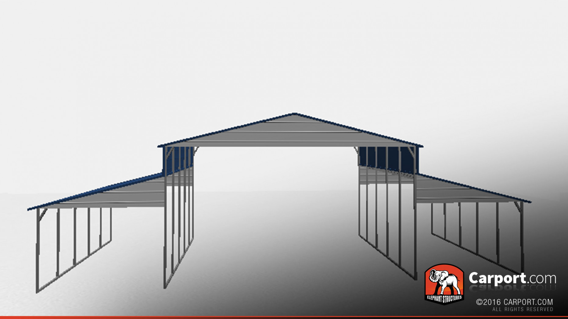 Strong Ridgeline Metal Barn With Open Design Metal Carport Ideas For Front Of House