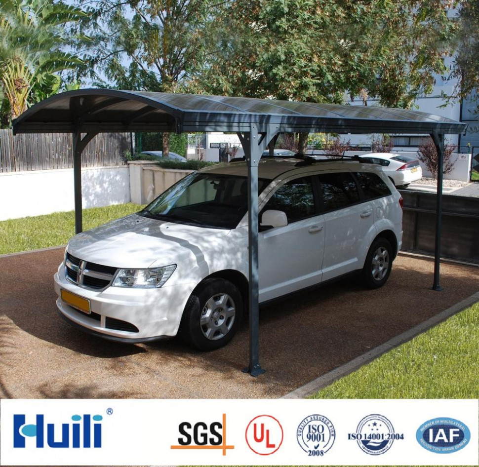 Stylish Car Garage Design Aluminum Carports With Pc Panels Manufactured By Huili Buy Aluminum Frame Carport,Modern Carport Designs,Carports Garages ..