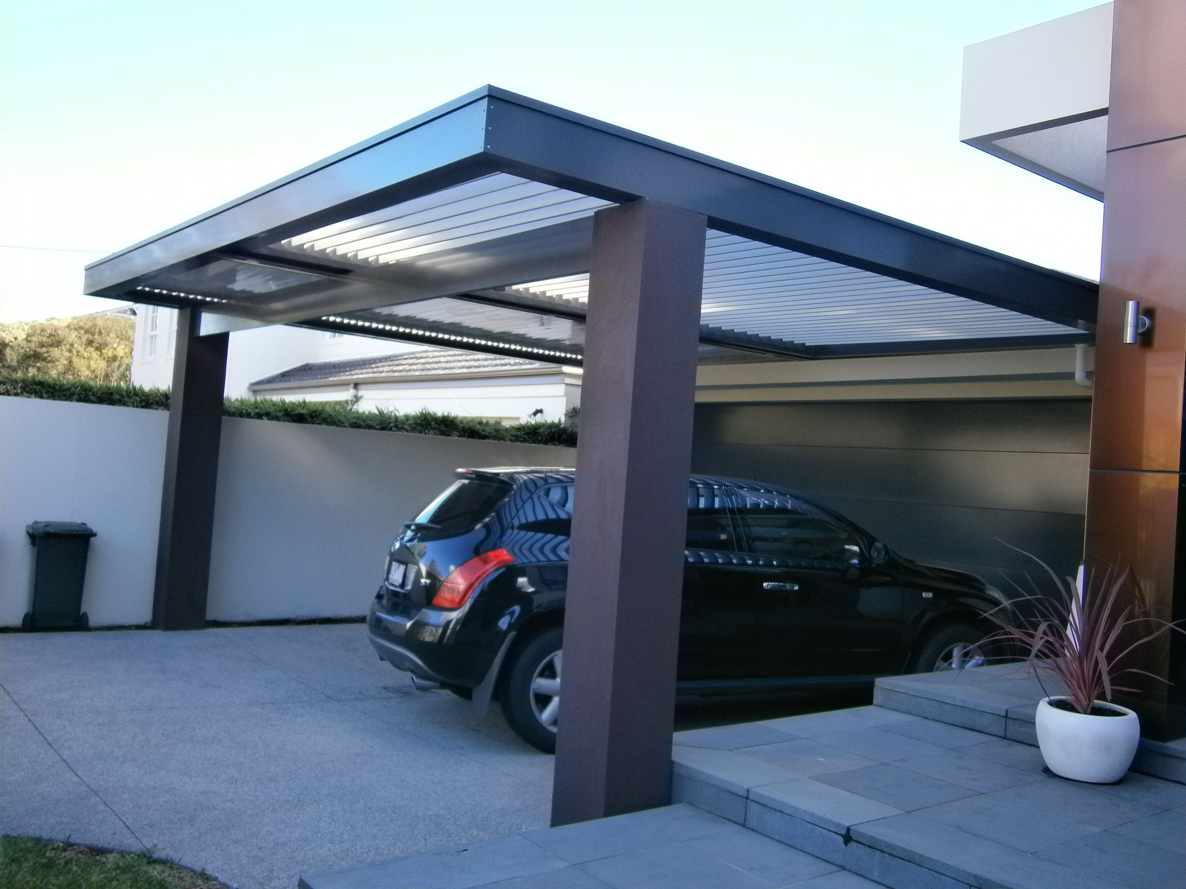 Stylish Double Louvre Roof Carport That Retains Natural ..