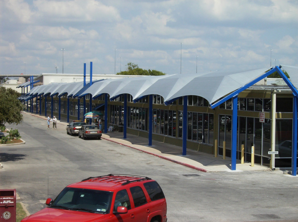 Sun Ports: Travis County Tax Office Carport Canopy Tension