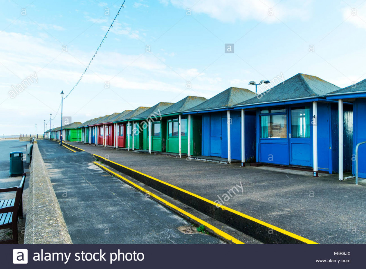Sutton On Sea Chalets Beach Changing Rooms Wooden Shacks ..