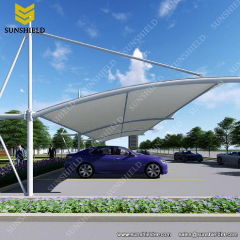 Tensile Parking Shade Fabric Carport Sunshield Double ..