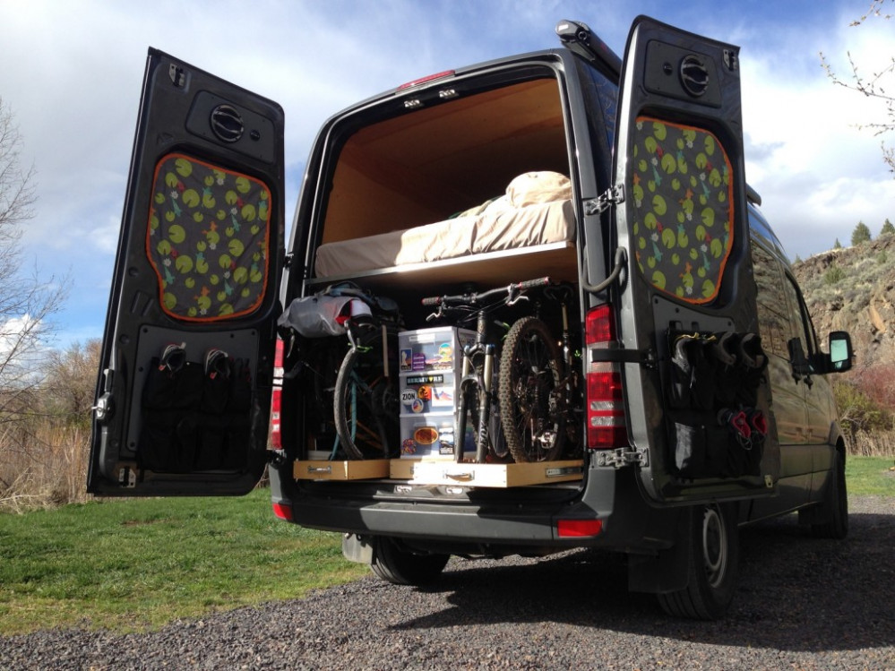 The Adventure Mobile Our DIY Sprinter Camper Van Bicycle ..