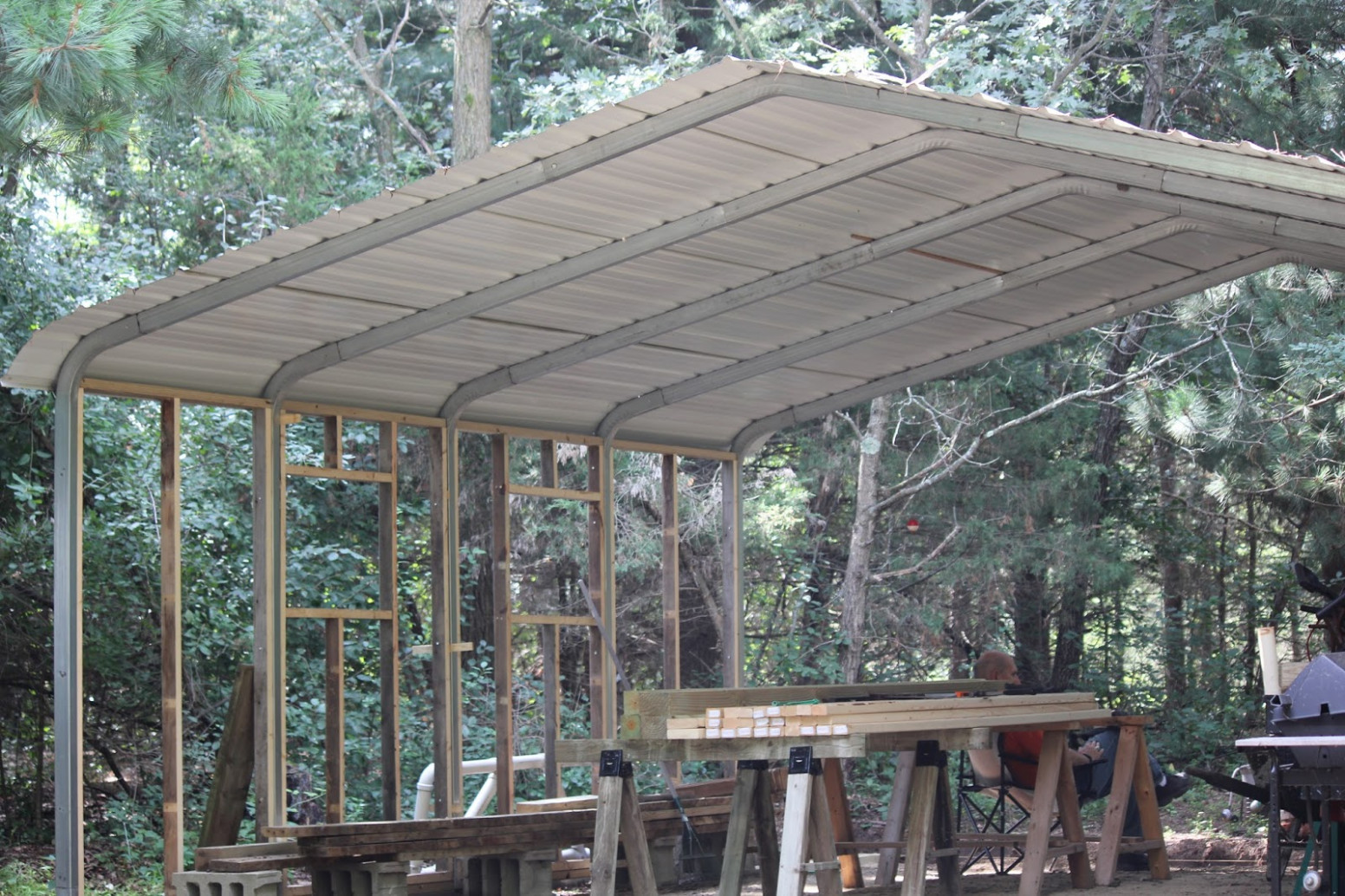 The Cabin Countess : Making A Sows Ear (metal Carport) Into ..