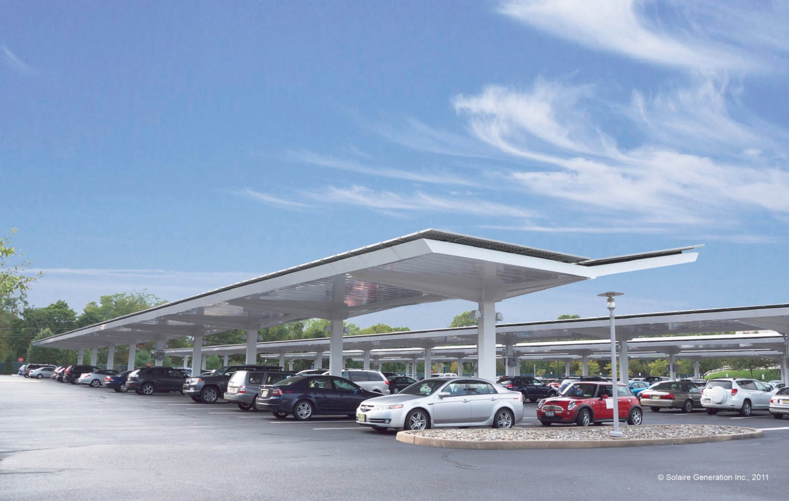 The Green Skeptic: Solaire's Parking Canopies, A Cool ..