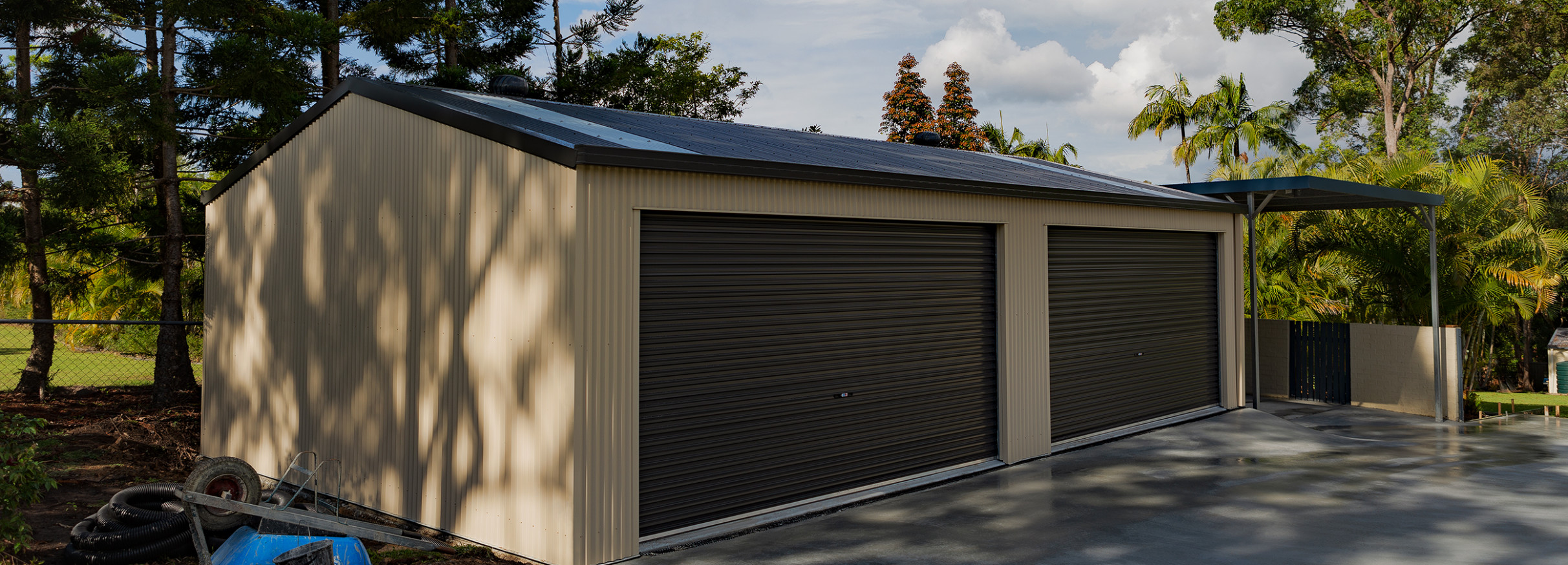 THE Shed Company | Custom Built Steel Sheds, Carports & Patios Hip Roof Carport Brisbane