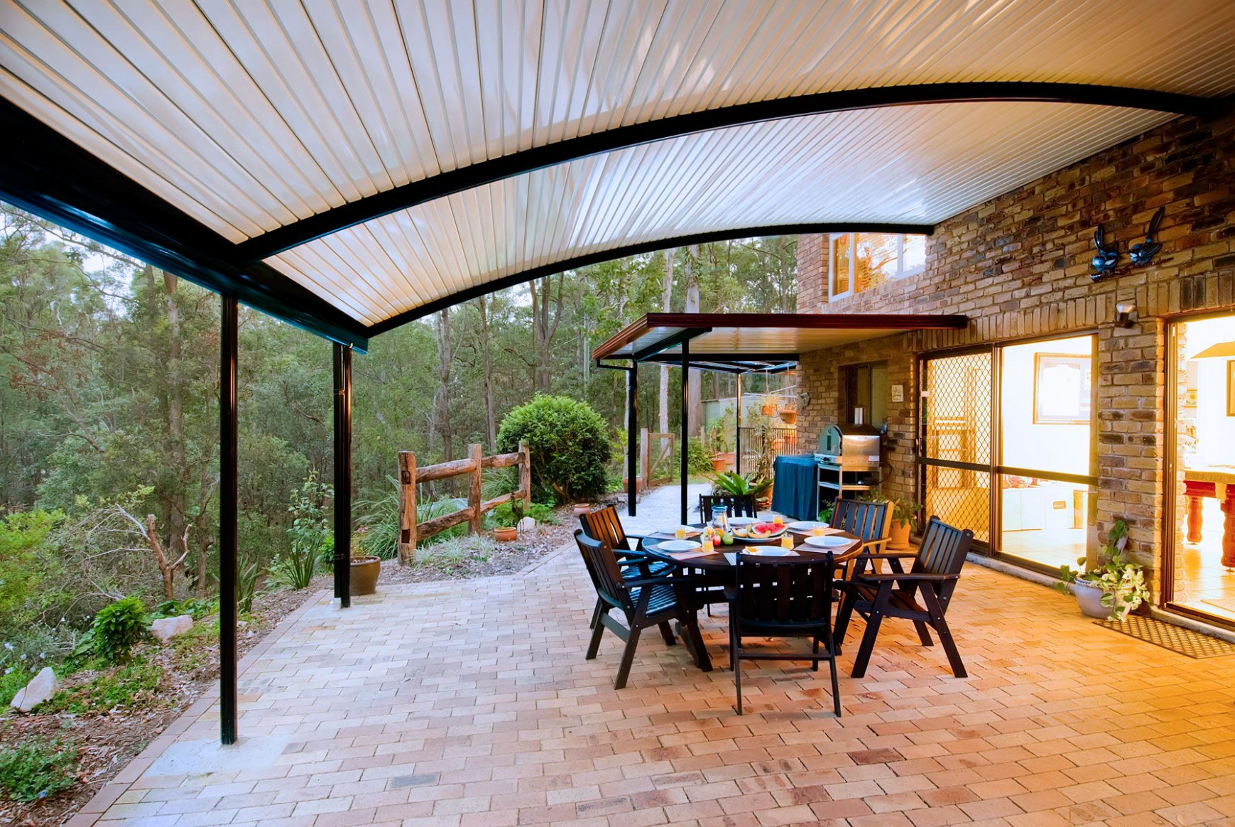 The Stratco Outback Curved Roof Patio Is A Unique, Sleek ..