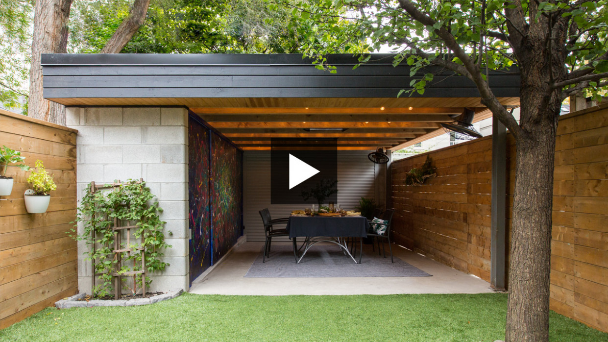 This Parking Space Doubles As A Cozy Outdoor Dining Area Victorian Carport Ideas