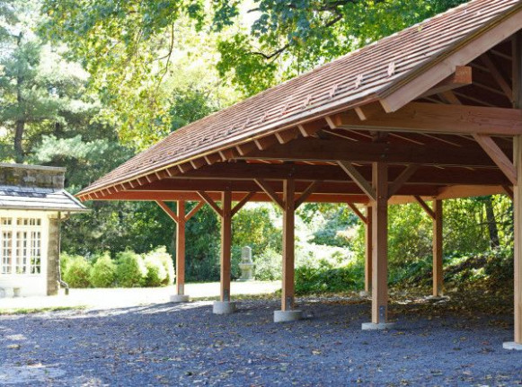 This Timber Frame Pavilion Carport Is Large And Spacious ..