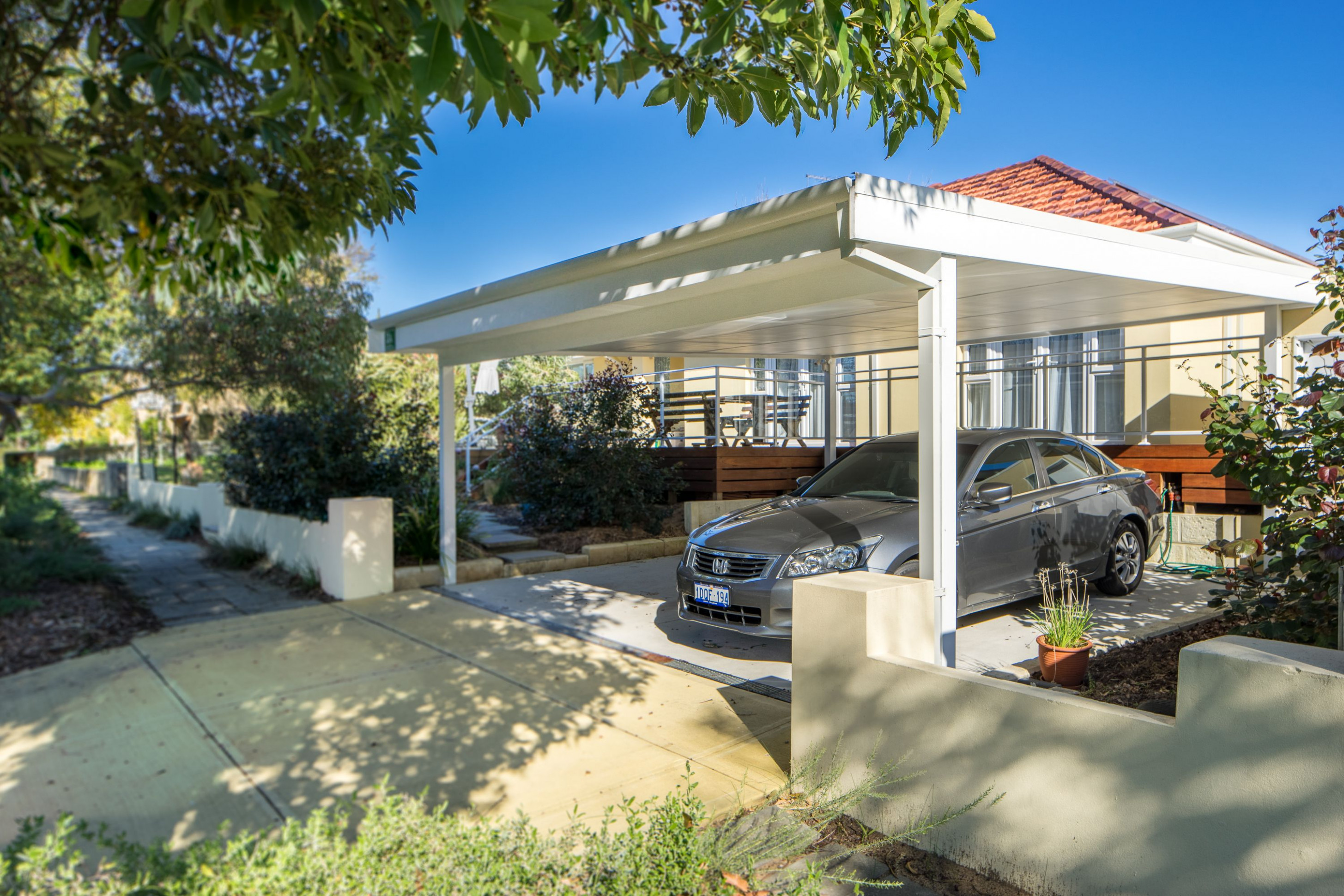 Timber and Steel Double Carport | Brick & Tile Carports in ...
