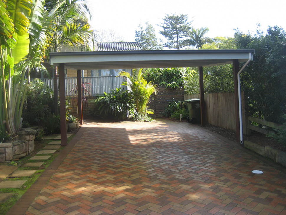 Timber Carports | Thomsons Outdoor Pine Flat Roof Wooden Carports