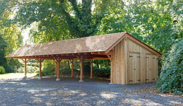 Timber Frame Carport In Wynncote, PA Traditional ..