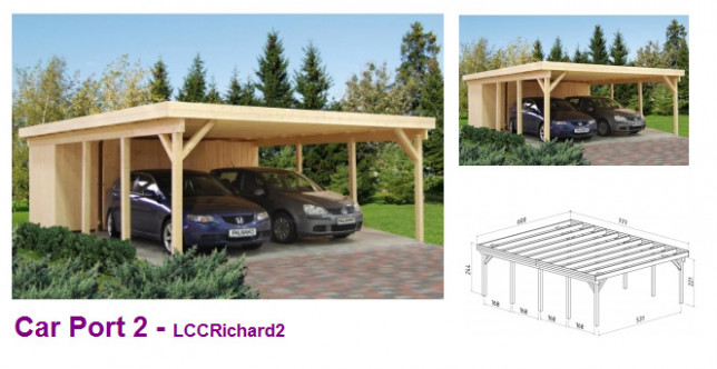 Timber Garages UK, Wooden Garages For Sale, Single & Double Wooden Carports Hampshire