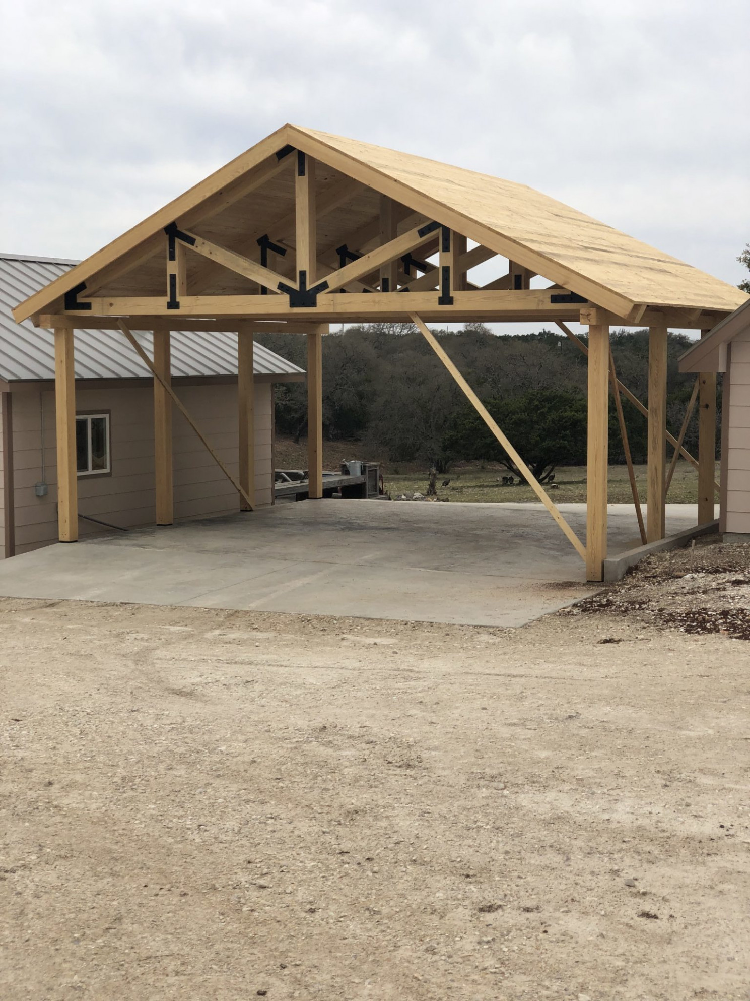 Timber Trusses & Beams Carport Roof Trusses