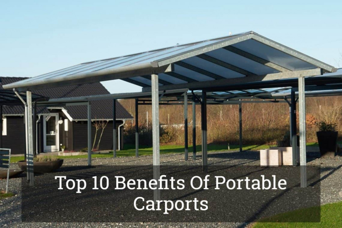 Top 10 Benefits Of Portable Carports Update 10 Flat Roof Carports For Sale