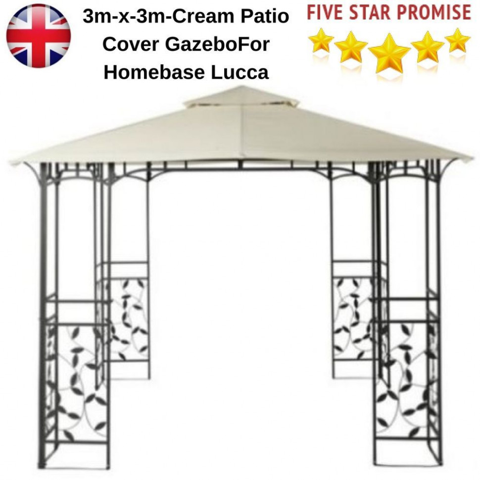 Top Up 113x113m Cream Patio Cover Gazebo Replacement 13 Tier ..