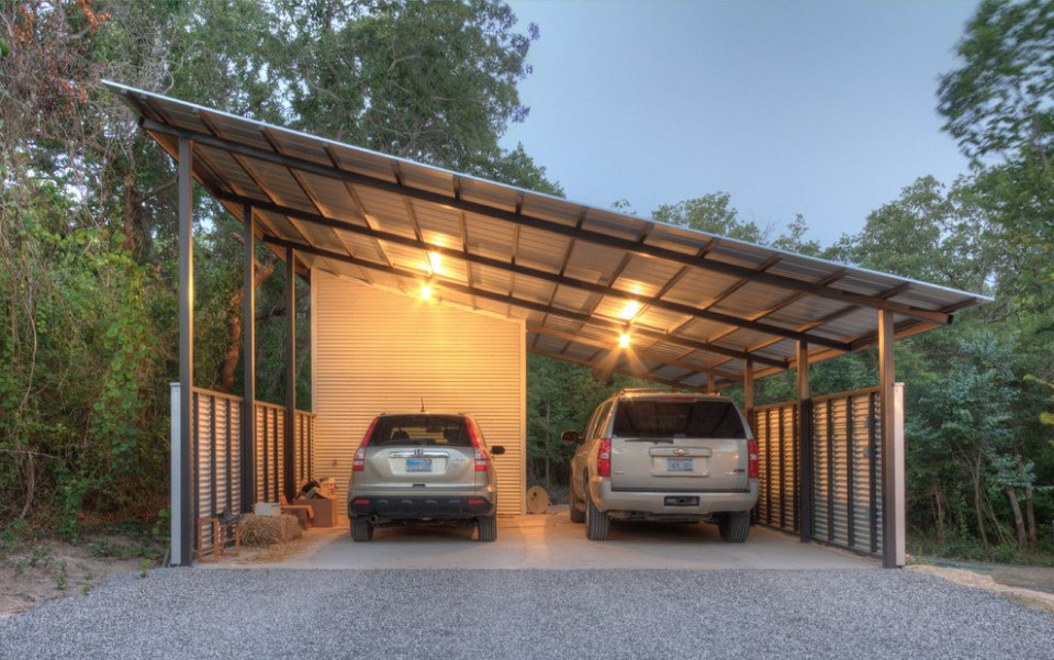 Tractor Shed Garage Industrial With Contemplative Textured ..