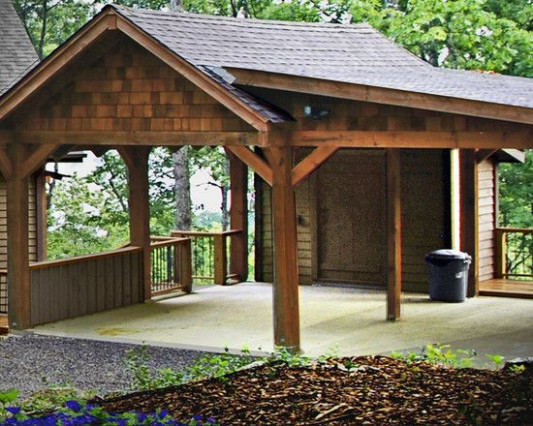 Traditional Garage And Shed Traditional Carports Design ..