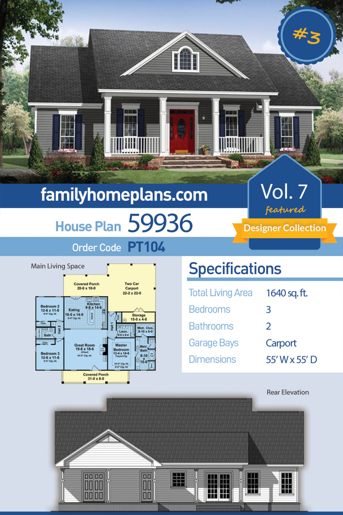 Traditional Style House Plan 113 With 13 Bed, 13 Bath, 13 Car Garage Carport Garage Conversion Plans