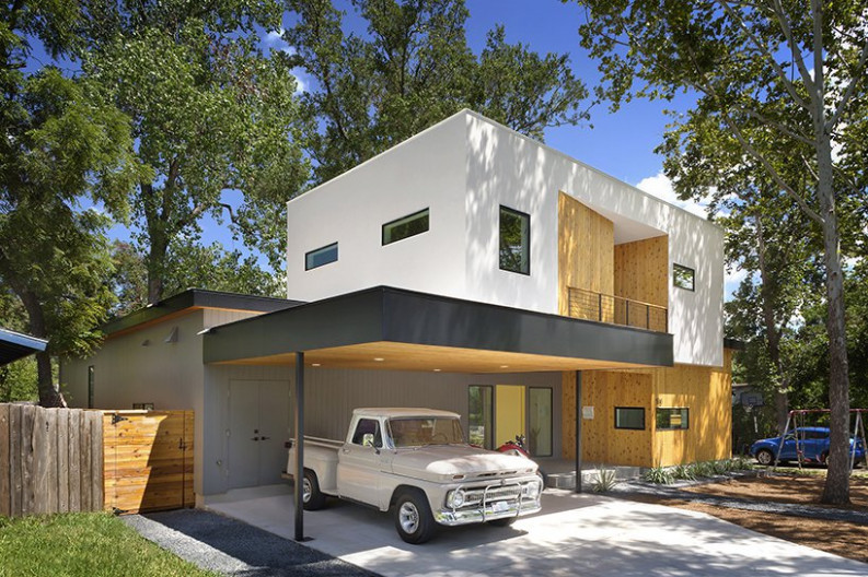 Tree House By Matt Fajkus Architecture In Austin, Texas Carports Minimalist Texas