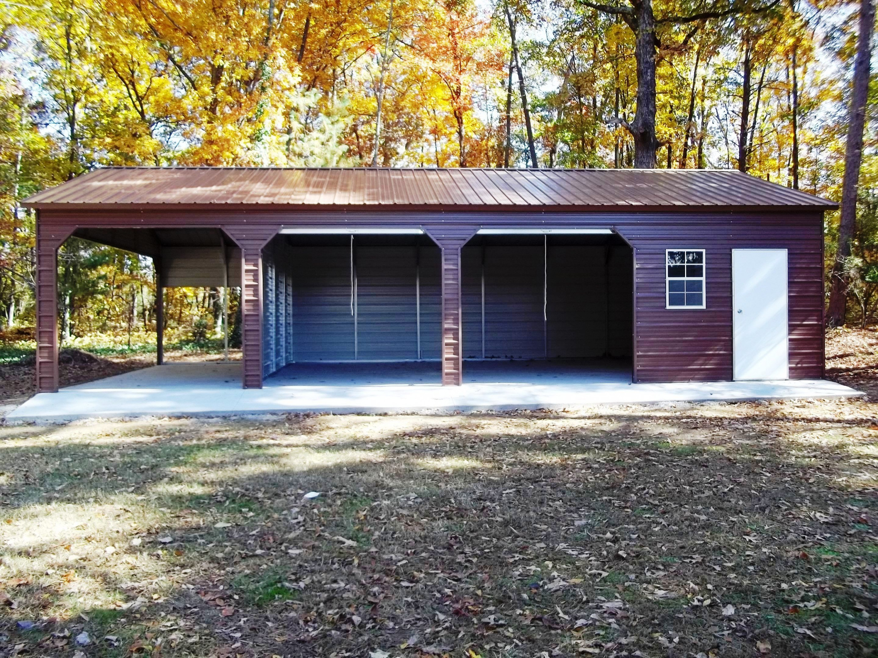 Triple Side Entry Combo Garage R&B Metal Structures ..