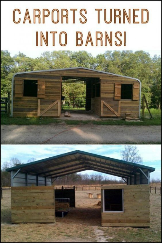 Turn A Carport Into A Barn | Barn And Chicken Coop Ideas ..