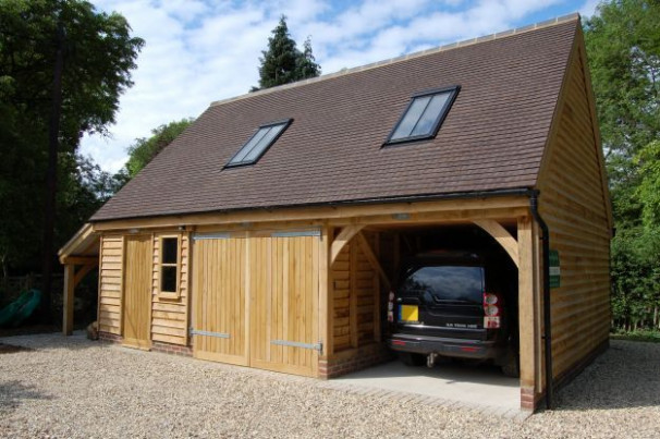Two Bay Garage With Log Store & Accommodation Above ..