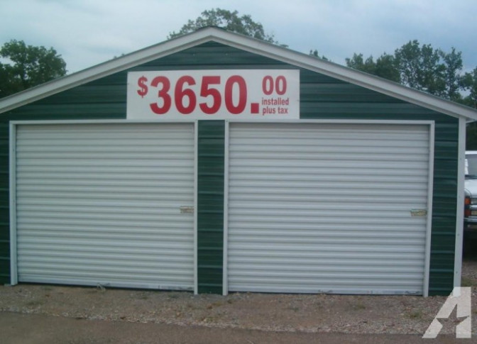 Two Car Garage Installed Barns Carports (Tennessee ..