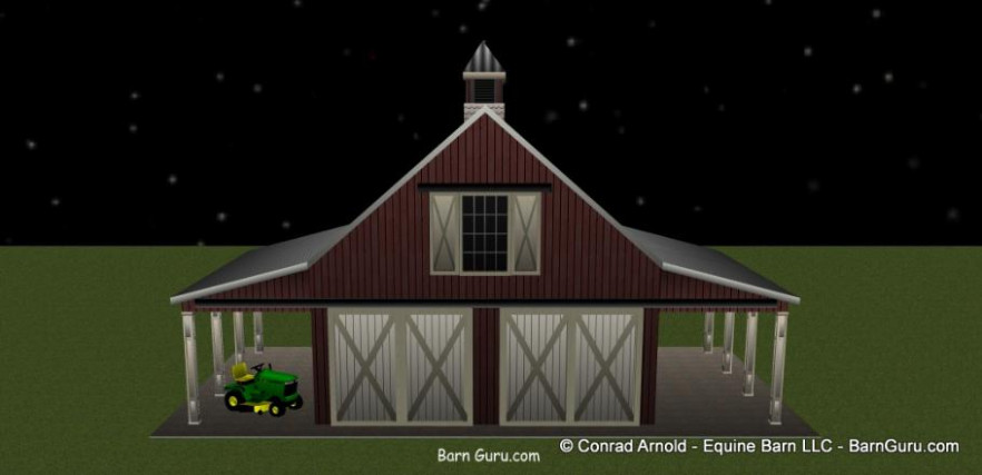 Two Car Garage That Looks Like A Horse Barn