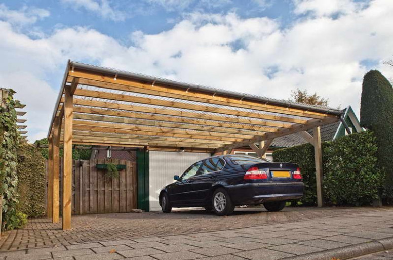 Two Cars Carport Design With Simple Garage Designs ..
