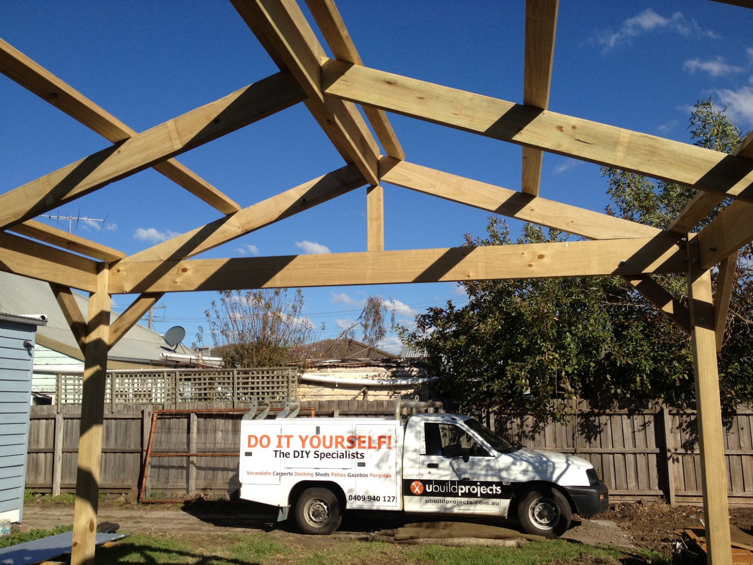 Ubuild Projects: How To Build A Timber Carport Carport Roof Battens