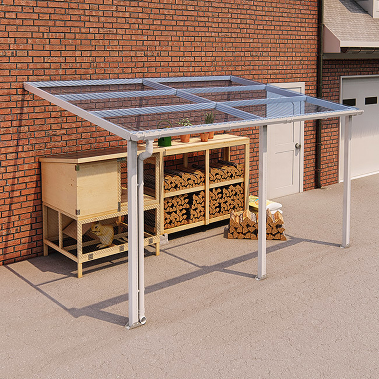 Ultimate Modular Carport White