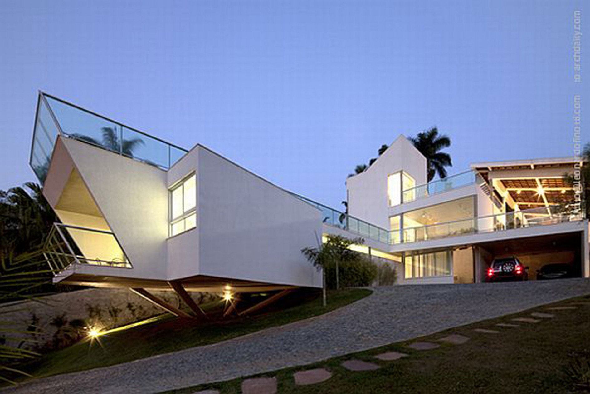 Unusual Architecture From A Modern House In Brazil – Carport Design Carport Modern