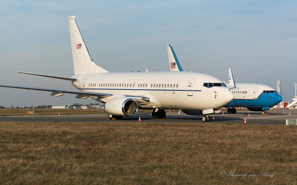 USAF C40C 02 0203 BRU FEB2019 Andrews Airport Parking