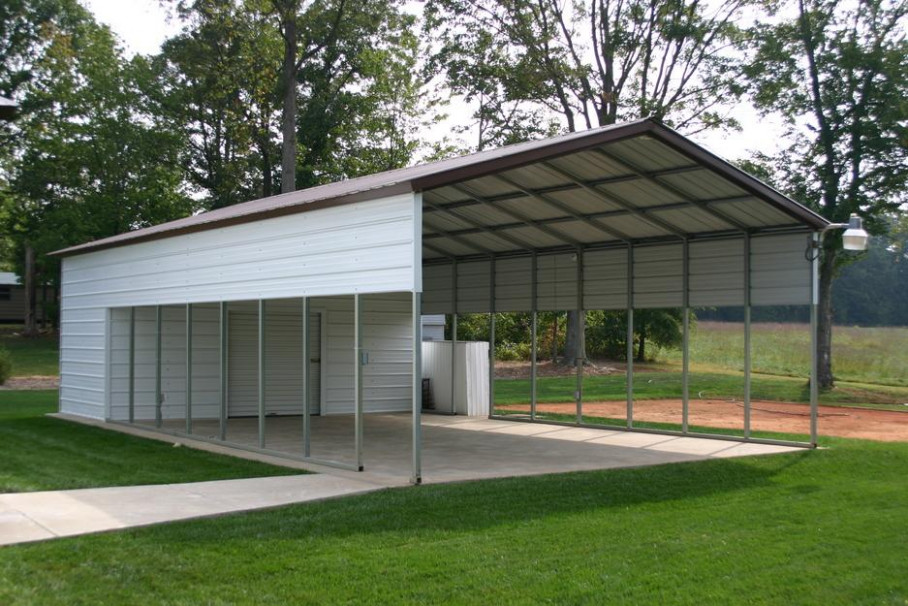 Utility Carports | Leonard Buildings & Truck Accessories Carport Tent Buildings