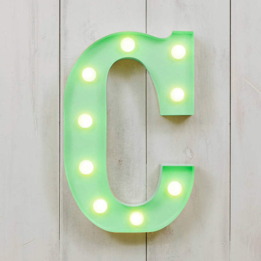 Vegas Metal Led Circus Letter Light C By All Things ..
