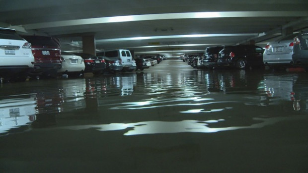 Vehicles Submerged In Flooded Love Field Parking Garages ..